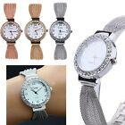 Women's Bangle Bracelet Stainless Steel Crystal Dial Quartz Analog Wrist Watch