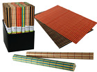 Bamboo Placemat - Dinner Table Food - 4 Set Single 9 Assorted Colours - New