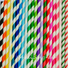 25x Paper Stripe Retro Vintage Stripe Party Drinking Straw Birthday Wedding Xmas