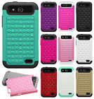 For ZTE Overture 2 HYBRID IMPACT Dazzling Diamond Case Phone Cover +Screen Guard