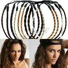 Women's Boho Hippie Braided Plaited Headband Twisted Elastic Hair Band Headdress