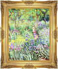 Framed Art Print The Artist's Iris Garden at Giverny Claude Monet Painting Repro