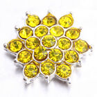 10/50pcs Charms Jewelry Colorful Rhinestone Alloy Flower Shape Embellishments L