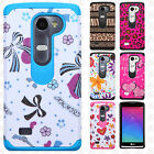 For Boost Mobile LG Tribute 2 HARD Hybrid Rubber Silicone Case Phone Cover