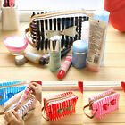 Stripe Transparent Travel PVC Bow Tie Cosmetic Make Up Handbag Case Toiletry Bag