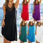 Women Sexy Summer Casaul Sleeveless sequins top Cocktail Evening Beach Dress hot