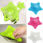 Starfish Hair Catcher Rubber Bath Sink Strainer Filter Shower Drain Cover 3color