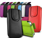 TWIN SET OF DURABLE MAGNET BUTTON PULL TAB POUCH CASES FOR SONY XPERIA MOBILES