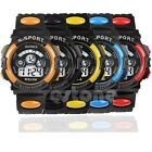 Mens Cool Vogue Date Alarm Stopwatch Sports LED Digital Rubber Wrist Watch