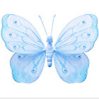 Butterfly Decor Blue Nylon Ceiling Hanging Wall Home Hanging  Party Decorations