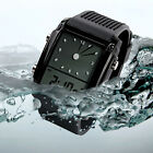 Multi-Color LED Silicone Digital Analog Dual Time Alarm Waterproof Army Watch