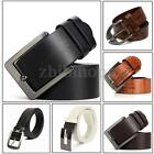 Luxury  Fashion Men's Leather Automatic Alloy Buckle Belt Casual Waistband Strap