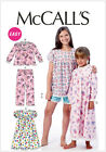 McCall's 6831 Sewing Pattern to MAKE Easy Cute Girls' Pyjamas, Nightdress