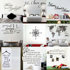 DIY Vinyl Quote Home Room Decor Art Wall Stickers Bedroom Removable Decal Mural