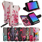 For ZTE Lever Z936L PU Leather Credit Card Flip Style Wallet Case Cover +Pen