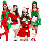 Adult Womens Miss Santa Claus Christmas Fancy Dress Xmas Party Outfit 4 Style