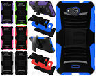 Kyocera Hydro Wave C6740 Hybrid Combo Holster KICKSTAND Rubber Case Phone Cover