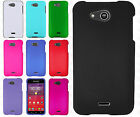 For Kyocera Hydro Wave C6740 Rubberized Hard Protector Case Cover +Screen Guard
