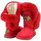 Women's Chicago Blackhawks Cuce Red Champions Boots