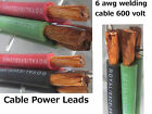Welding Cable Red, Black, Green 6 AWG GAUGE COPPER WIRE BATTERY SOLAR LEADS