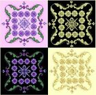 Anemone Quilt #3, Design 1-in 4 sizes-Anemone Quilt Designs & Embroidery Singles