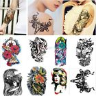 Removable Stickers Skull Roses Body Art Tatoo Temporary Arm Tattoos Waterproof