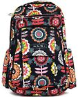 Ju Ju Be Be Right Back Baby Diaper Bag Backpack Dancing Dahlias w/ Changing Pad