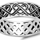 Sterling Silver wedding band ring Celtic Love Knot Infinity size 5-14 New p53