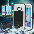 For Samsung Galaxy S6 Waterproof Shockproof Aluminum Metal Gorilla Glass Case