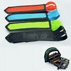 2x Mountain Bike Bicycle Cycling Anti-slip Pedals Toe Clips Straps Velcro Fixed