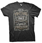 Vintage Aged To Perfection 1943 - Distressed Print - 72nd Birthday Gift T-shirt