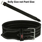 Power Weight Lifting Belts Heavy Duty Gym Fitness Training Leather Belt Workout