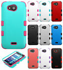 Kyocera Hydro Wave C6740 IMPACT TUFF HYBRID Case Skin Phone Covers +Screen Guard