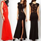 Sexy Women Slim Lace Maxi Dress Gown Evening Cocktail Wedding Party Long Dresses