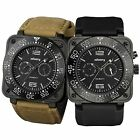 INFANTRY ISA9231 Quartz Mens Wrist Watch Aviator Night Vision Premium Strap Set