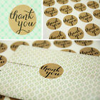 """Thank You"" Kraft Craft Packaging Seals Sticker Labels Wedding Favours Toppers"
