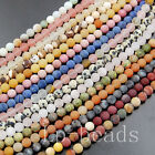 "Popular Matte Frosted Natural Gemstones Mixed Round Loose Beads 15""6mm 8mm 10mm"