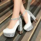 New Women's Fashion Strappy Platform High Heels Party Pumps Shoes UK Size 1-7.5