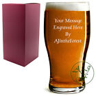 Personalised 1 Pint Tulip Beer Lager Glass Sleever Engraved with your message!
