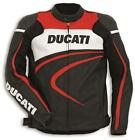 Ducati Perforated Sport Leather Jacket Black Red White by Dainese