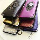 New Fashion Skull Head Rivet Punk Women Handbag Long Purse Clutch Bags Wallet