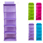 5 Layer Foldable Nonwoven Hanging Wardrobe Clothes Storage Container Closet