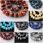 10pcs Faceted Crystal Stripe Design LampworkGlass Spacer NecklaceFindings 10mm