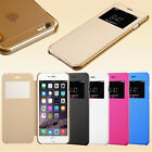 Flip Leather Wallet Smart View Window Case Cover For Apple iPhone 5 6 / 6 PLUS