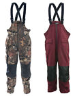Men's Mossi XT Rain Bibs Burgundy or Mossy Oak Break-Up Infinity