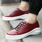 Mens High Platform Round Toe Lace Up Fashion Casual Breathable Sneakers Shoes Sz