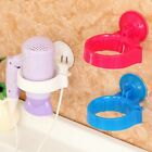 Round Hair Dryer Storage Organizer Holder Hanger Wall Mount Suction Cup Bathroom