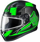 HJC 2015 Adult Striker CL-17 SN MC4 Snow Helmet Black/Green XS-3XL