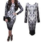 New Women Bodycon Bandage Long Sleeve Slim Cocktail Party Clubwear Dress 3T5W