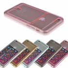 For iPhone 6 6s Plain Gel Credit Card Holder Soft Back Protective Case Cover